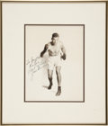 Boxing Collectibles:Autographs, Jack Dempsey Signed And Framed Vintage Photograph. ...