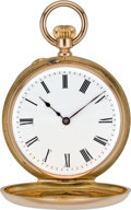 Timepieces:Pocket (pre 1900) , Patek Philippe Mint Rose Gold Demi-Hunter Pocket Watch, circa 1883....