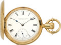Timepieces:Pocket (pre 1900) , E. Howard & Co. Boston Gold Series IV Railroad Presentation Watch, circa 1874. ...