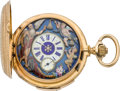 Timepieces:Pocket (pre 1900) , Swiss Gold Quarter Hour Repeater with Automaton, circa 1890. ...