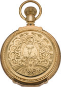 Timepieces:Pocket (pre 1900) , Elgin 18 Size Gold Box Hinge Hunters Case, circa 1889. ...