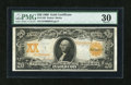 Large Size:Gold Certificates, Fr. 1185 $20 1906 Gold Certificate PMG Very Fine 30....