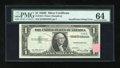 Error Notes:Obstruction Errors, Fr. 1614 $1 1935E Silver Certificate. PMG Choice Uncirculated 64.....