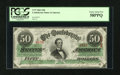 Confederate Notes:1863 Issues, T57 $50 1863.. ...