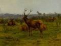 Paintings, ROSA BONHEUR (French, 1822-1899). The Monarch of the Herd, 1868. Oil on canvas. 31-1/4 x 39 inches (79.4 x 99.1 cm)...