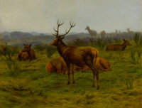 ROSA BONHEUR (French, 1822-1899) The Monarch of the Herd, 1868 Oil on canvas 31-1/4 x