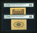 Fractional Currency:First Issue, Fr. 1282SP 25c First Issue Wide Margin Pair. PMG Choice Uncirculated 64 EPQ and Choice Uncirculated 64.... (Total: 2 notes)