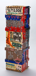 Fine Art - Sculpture, American:Contemporary (1950 to present), DOUGLAS ABDELL (American, b. 1947). Kraenk #25, 1983. Mixed media on wood. 46 x 14-1/2 inches (116.8 x 36.8 cm). Titled,...