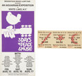 Music Memorabilia:Posters, Woodstock Unused 3-Day Pass with Flyer.... (Total: 2 Items)