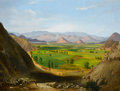 Fine Art - Painting, American:Antique  (Pre 1900), CYRENIUS HALL (American, 1830-1896). View of Peru. Oil oncanvas. 37-3/4 x 49-3/4 inches (95.9 x 126.4 cm). ...