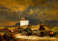 Fine Art - Painting, American:Contemporary   (1950 to present)  , FREDERIGO MERLI (American, 20th Century). Walker's Caravan.Oil on canvas. 31-1/2 x 43 inches (80.0 x 109.2 cm). Signed ...
