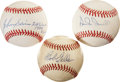 Autographs:Baseballs, Lot of 3 Single HOF/Stars Signed Baseballs.... (Total: 3 items)