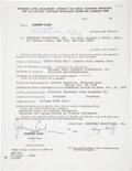 Music Memorabilia:Autographs and Signed Items, Johnny Cash Signed Contract....