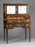 Furniture : French, AN EMPIRE-STYLE GILT METAL MOUNTED MAHOGANY BUREAU SECRETAIRE. 20thCentury. 56-1/2 x 38 x 19 inches (143.5 x 96.5 x 48.3 cm...