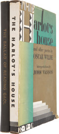 Books:First Editions, Oscar Wilde. Two Books Illustrated by John Vassos, including:The Ballad of Reading Gaol [and:] Harlot's House,...(Total: 2 Items)