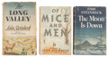 Books:First Editions, John Steinbeck. Three Works, including: The Moon is Down[and:] Of Mice and Men [and:] The Long Valley...(Total: 3 Items)