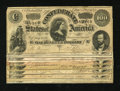 Confederate Notes:1864 Issues, Nine Pleasing T65s $100 1864.. ... (Total: 9 notes)