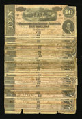 Confederate Notes:1864 Issues, Thirty Four T68 $10s 1864.. ... (Total: 34 notes)