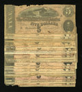 Confederate Notes:1864 Issues, Twenty One T69 $5s 1864.. ... (Total: 21 notes)