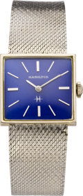 Timepieces:Wristwatch, Hamilton Gent's White Gold Wristwatch, circa 1960's. ...