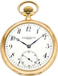 Timepieces:Pocket (post 1900), Vacheron & Constantin Gold Pocket Watch, circa 1915. ...