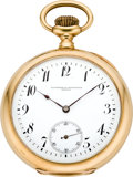 Timepieces:Pocket (pre 1900) , Vacheron & Constantin Men's Gold & Enamel Pocket Watch,circa 1892. ...