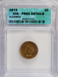Proof Indian Cents: , 1872 1C --Cleaned--ICG. PR60 Details. NGC Census: (0/112). PCGSPopulation (0/220). Mintage: 950. (#2303)...