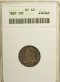 Bust Dimes: , 1827 10C XF40 ANACS. NGC Census: (6/215). PCGS Population (15/209).Mintage: 1,300,000. Numismedia Wsl. Price for NGC/PCGS ...
