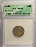Bust Dimes: , 1829 10C Small 10C XF45 ICG. NGC Census: (6/209). PCGS Population(11/166). Mintage: 770,000. Numismedia Wsl. Price for NGC...