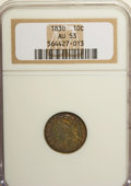 Bust Dimes: , 1830 10C Medium 10C AU53 NGC. NGC Census: (5/136). PCGS Population(2/134). Mintage: 510,000. Numismedia Wsl. Price for NGC...