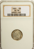 Bust Dimes: , 1831 10C AU58 NGC. NGC Census: (40/165). PCGS Population (26/127).Mintage: 771,350. Numismedia Wsl. Price for NGC/PCGS coi...