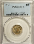 Barber Dimes: , 1913 10C MS64 PCGS. PCGS Population (208/109). NGC Census:(194/91). Mintage: 19,760,622. Numismedia Wsl. Price for NGC/PCG...