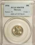 Mercury Dimes: , 1916 10C MS67 Full Bands PCGS. PCGS Population (89/8). NGC Census:(85/14). Mintage: 22,180,080. Numismedia Wsl. Price for ...