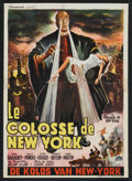 "Movie Posters:Science Fiction, The Colossus of New York (Paramount, 1958). Belgian (14"" X 19.5"").Science Fiction.. ..."