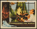 """Movie Posters:Science Fiction, It Conquered the World (American International, 1956). Autographed Lobby Card (11"""" X 14""""). Science Fiction.. ..."""