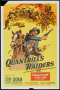"""Movie Posters:Western, Quantrill's Raiders (Allied Artists, 1958). One Sheet (27"""" X 41""""). Western.. ..."""
