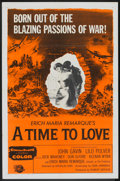 """Movie Posters:Drama, A Time to Love and a Time To Die (Universal International, 1958). One Sheet (27"""" X 41""""). Drama.. ..."""