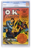 Golden Age (1938-1955):Superhero, O.K. Comics #1 Windy City pedigree (United Features Syndicate, 1940) CGC VF+ 8.5 Off-white pages. ...