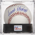 Autographs:Baseballs, Frank Robinson Single Signed Baseball PSA Mint+ 9.5....