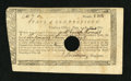 Colonial Notes:Connecticut, Connecticut Treasury-Office £10, 7 Shillings June 1, 1782 VeryFine....