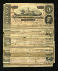 Confederate Notes:1864 Issues, Group Lot of T67 $20s 1864.. ... (Total: 28 notes)