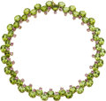 Estate Jewelry:Necklaces, Peridot, Pink Sapphire, Gold Necklace, Paolo Costagli. ...