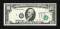Error Notes:Shifted Third Printing, Fr. 2022-D $10 1974 Federal Reserve Note. Very Fine.. ...