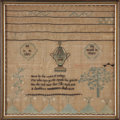 Political:Textile Display (pre-1896), George Washington: A Rare 1801-Dated Memorial Linen Sampler....