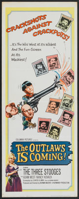 """The Outlaws is Coming (Columbia, 1965). Insert (14"""" X 36""""). Comedy"""