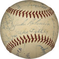 Autographs:Baseballs, 1953 Brooklyn Dodgers Team Signed Baseball....