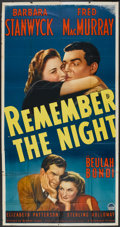 """Movie Posters:Comedy, Remember the Night (Paramount, 1940). Three Sheet (41"""" X 81""""). Comedy.. ..."""