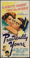 """Movie Posters:Comedy, Practically Yours (Paramount, 1944). Three Sheet (41"""" X 81""""). Comedy.. ..."""
