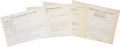 Autographs:Celebrities, Booker T. Washington Group of Four Typed Letters Signed. All onTuskegee Normal and Industrial Institute stationery and date...(Total: 4 Items)