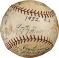 Autographs:Baseballs, 1932 Philadelphia A's Team Signed Baseball...